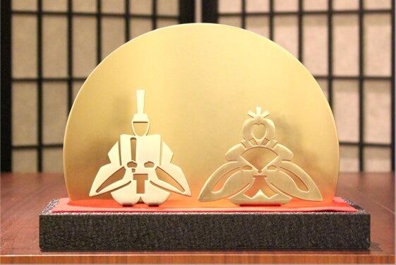 ゴールドプレート雛-HINA-/metament(メタメント)