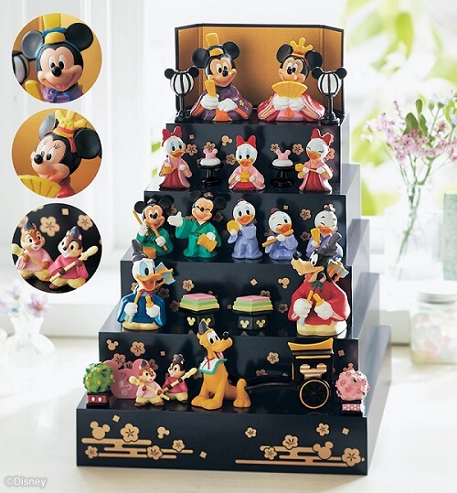 ディズニー5段ひな人形